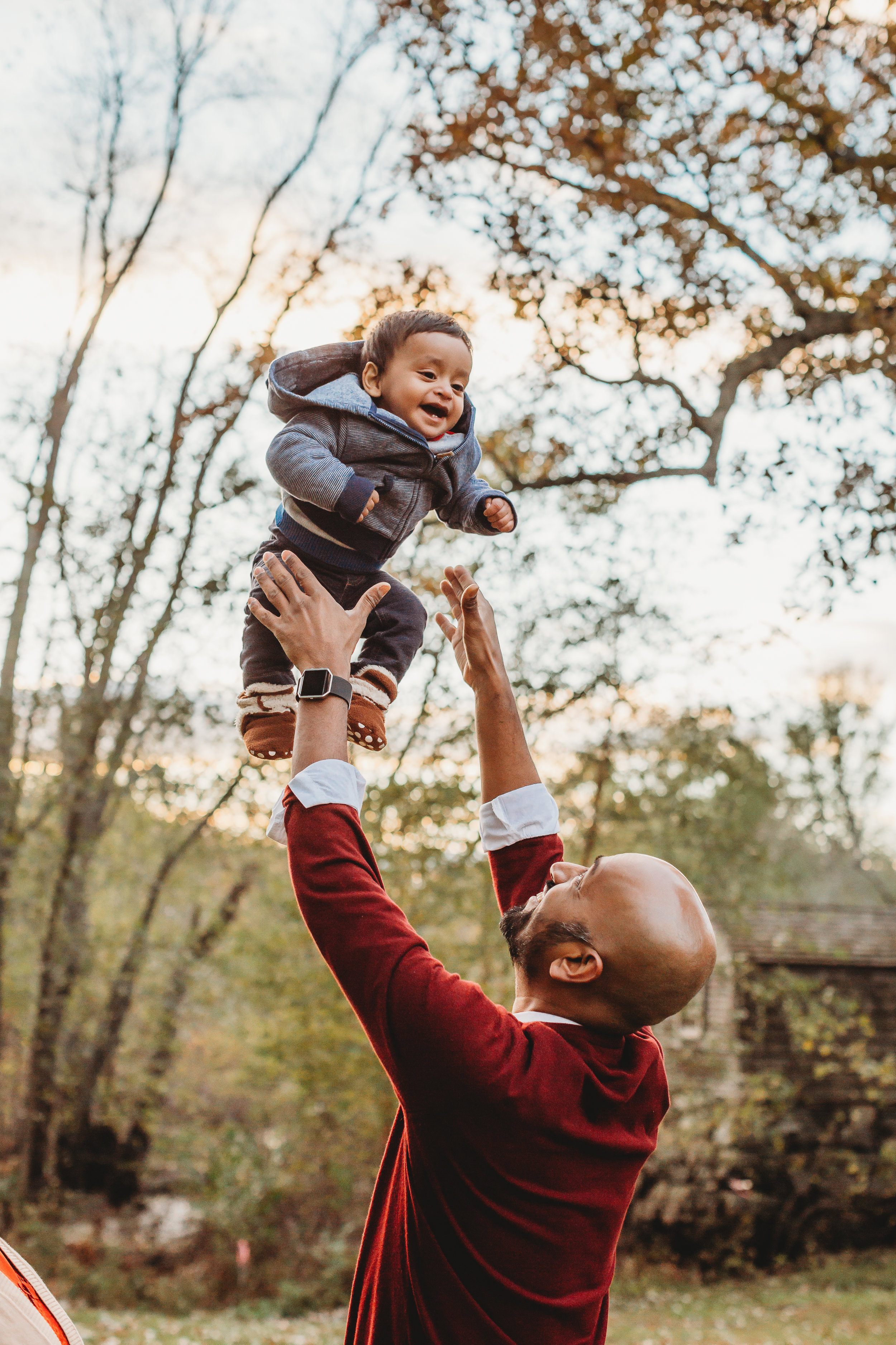 Bonus: with movement and prompts, even dads have fun during family portrait sessions! Concord family photographer. Greater Boston family lifestyle photography.