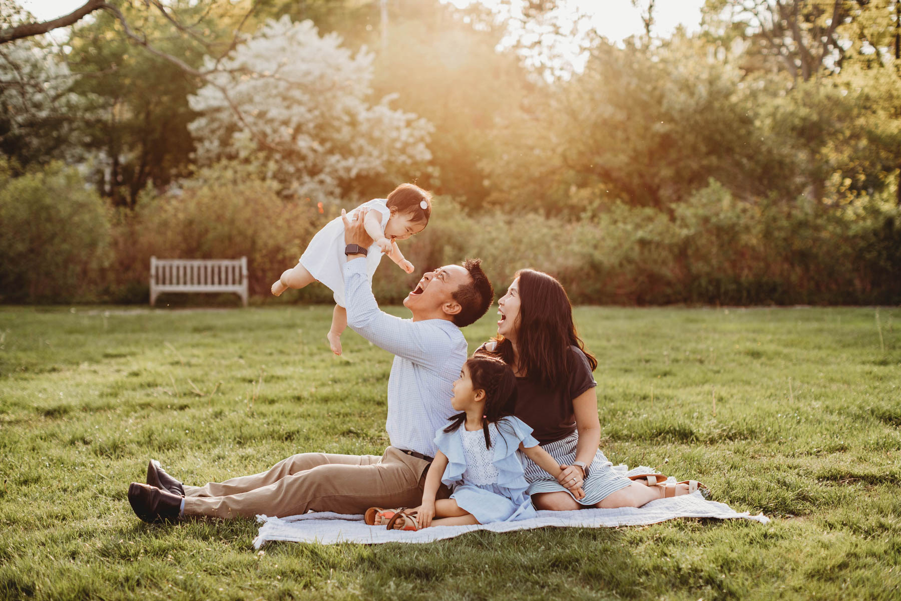 Keep the play time up and your kiddos will know that family photo time is a special time for extra fun! Boston family photography. Natural light lifestyle portraits. Golden hour sessions.