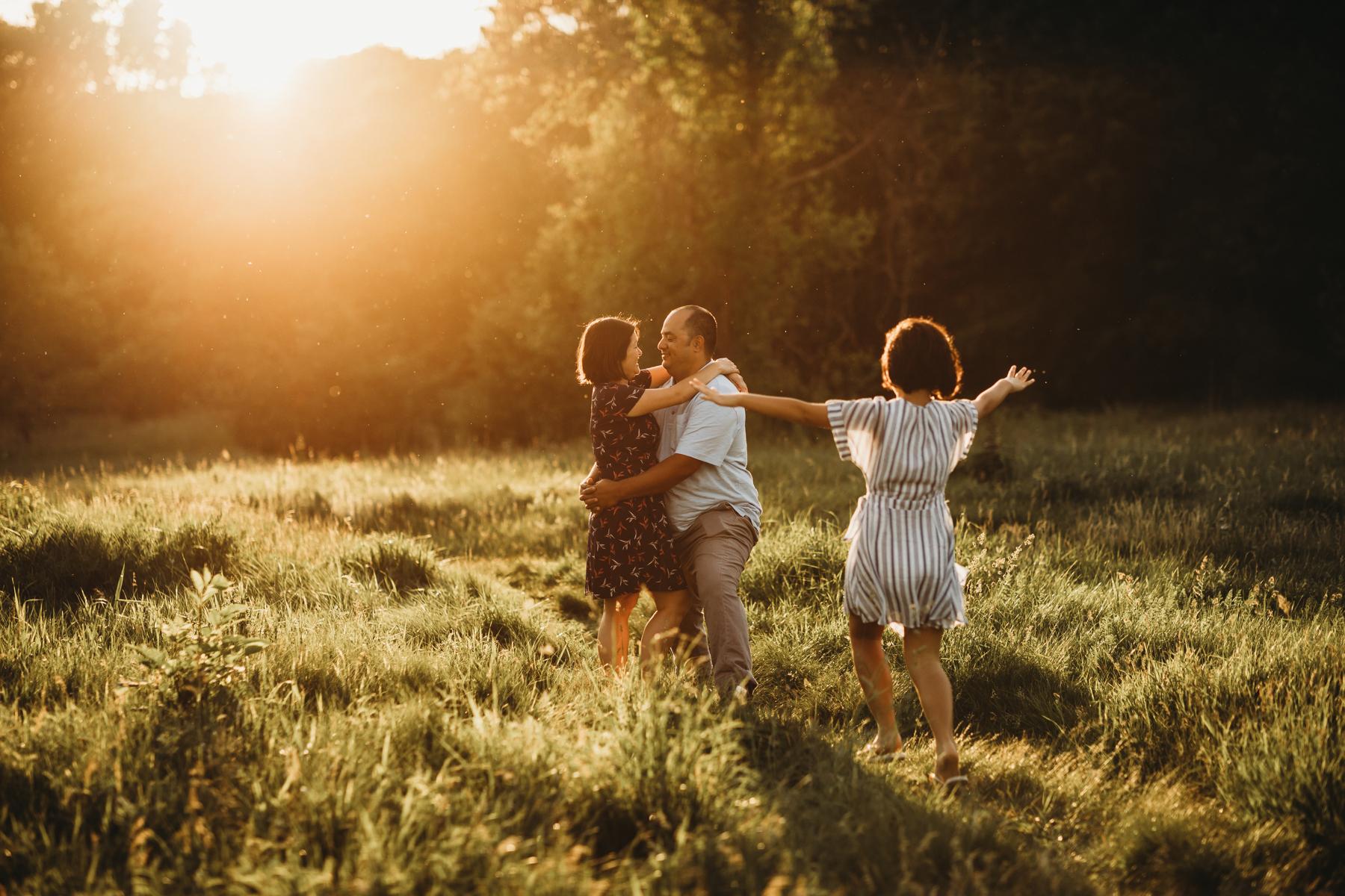 Golden hour family photography in Belmont, Massachusetts. Joy LeDuc Photography.