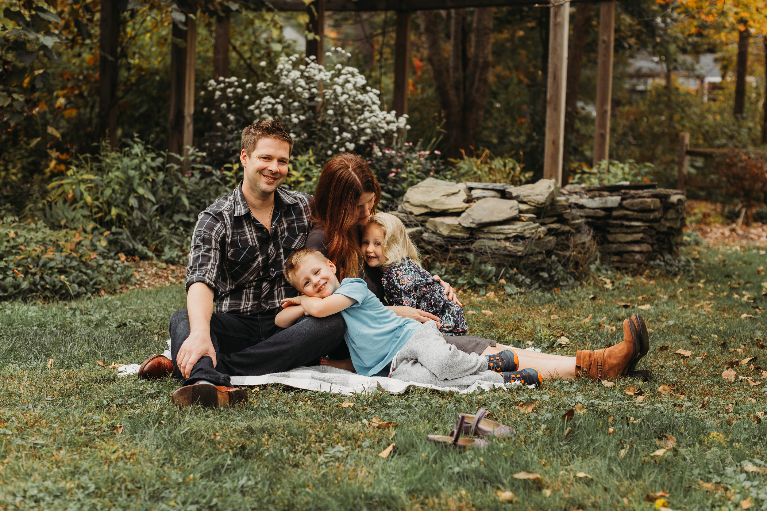 Family portraits in Acton, Massachusetts. How to get kids excited about family portraits. Boston lifestyle photography. Natural light and outdoor photography.
