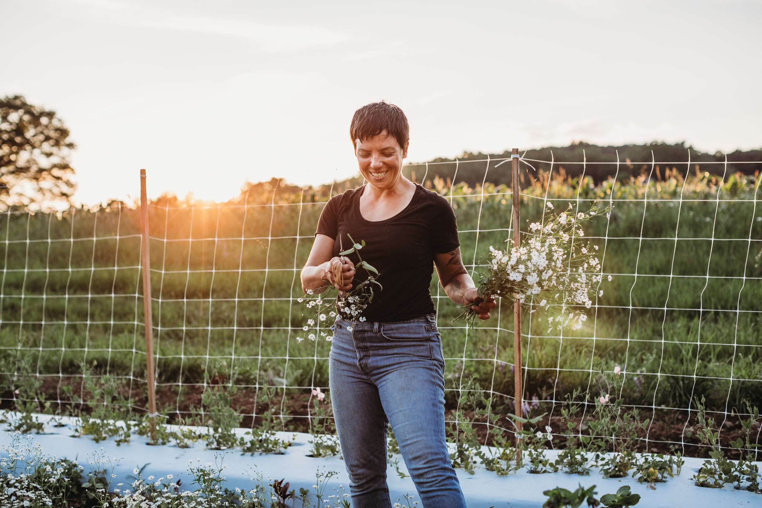 Mel Hardy at Field Edge Flowers in Concord, Massachusetts. Documenting her first season of flower farming.