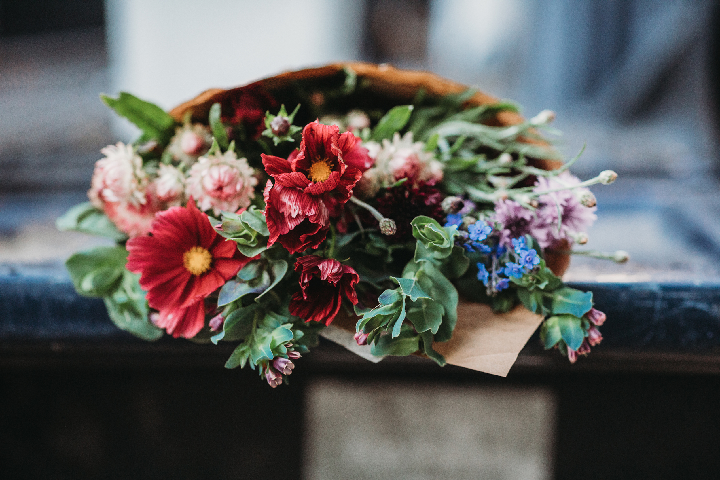 Flower shares available at Kind Goods (in Maynard, Massachusetts) and Hutchins Farm (in Concord, Massachusetts). Boston lifestyle photographer Joy LeDuc.