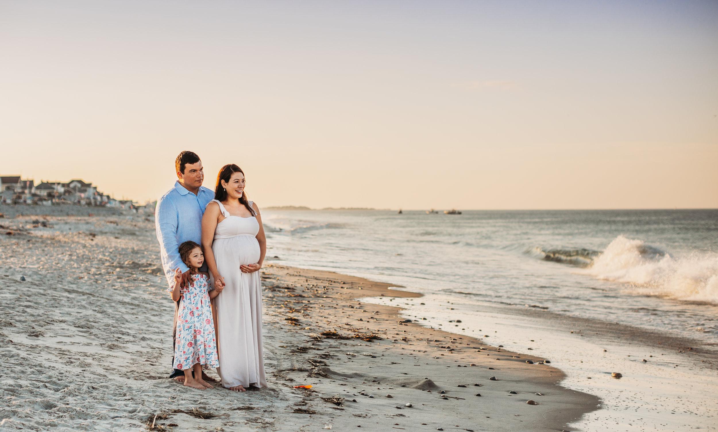 Christine: Scituate Beach Maternity Session | Boston Family Photographer