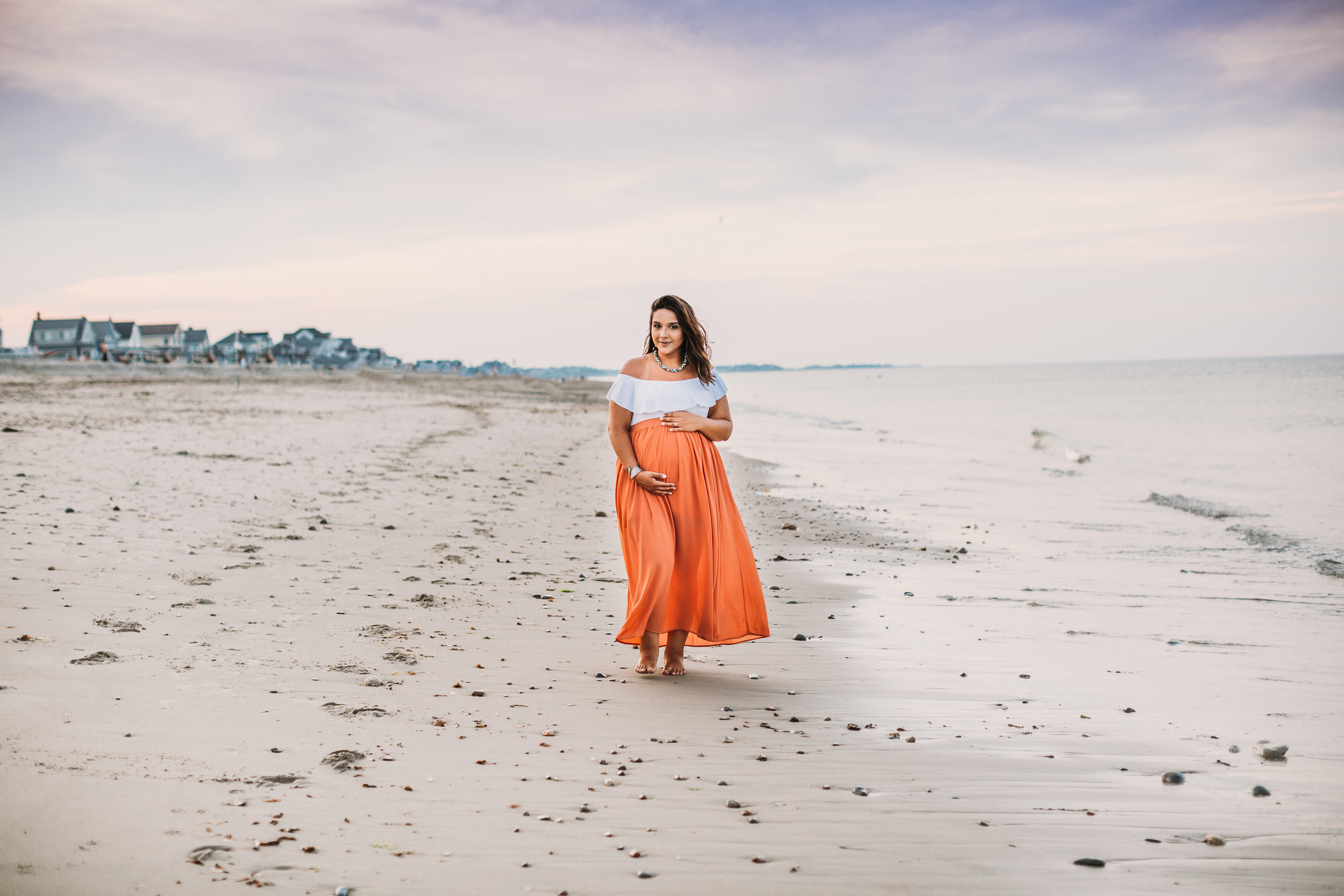 Greater Boston Maternity Photography at the Beach