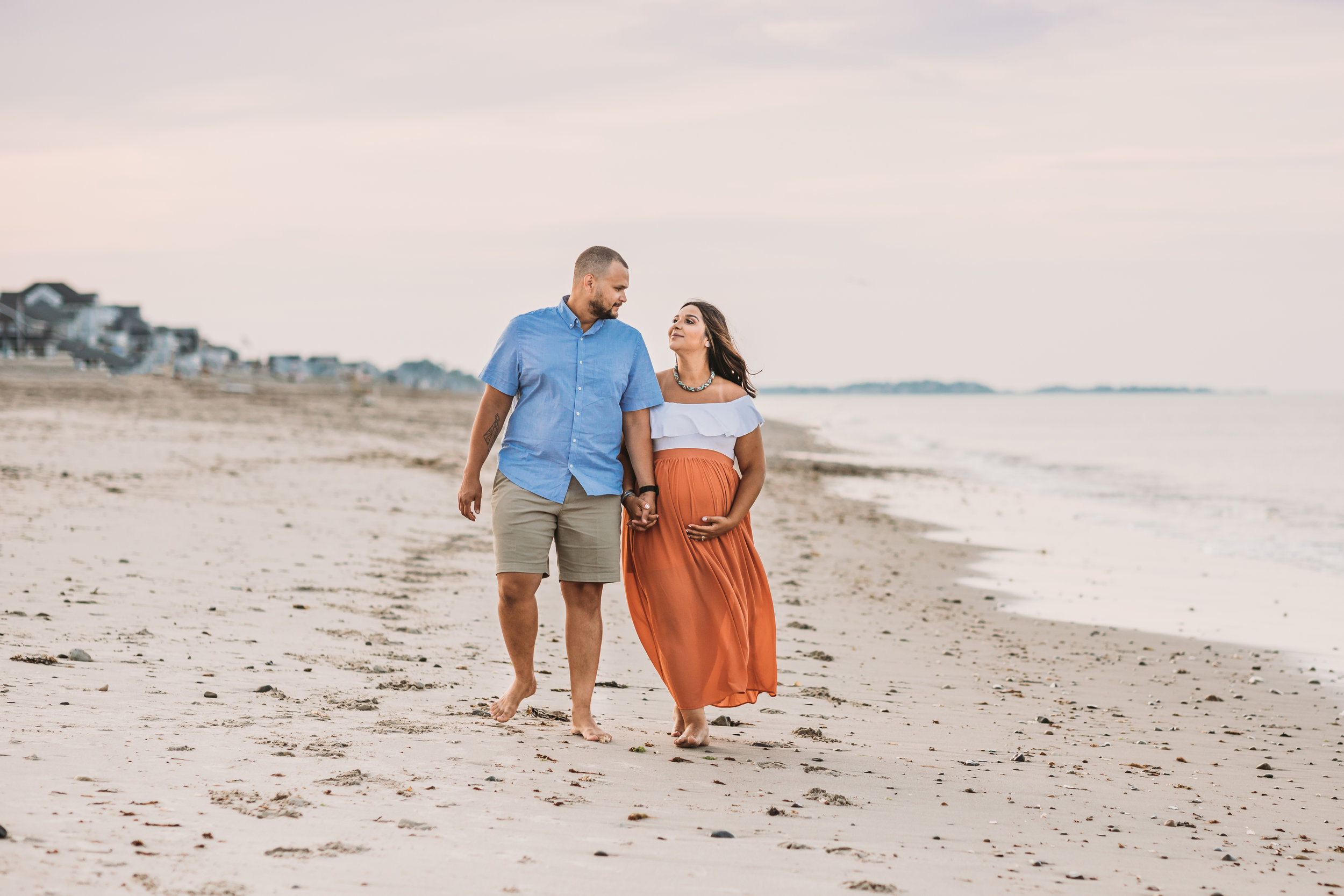 First Baby Beach Maternity Session in Greater Boston, Massachusetts