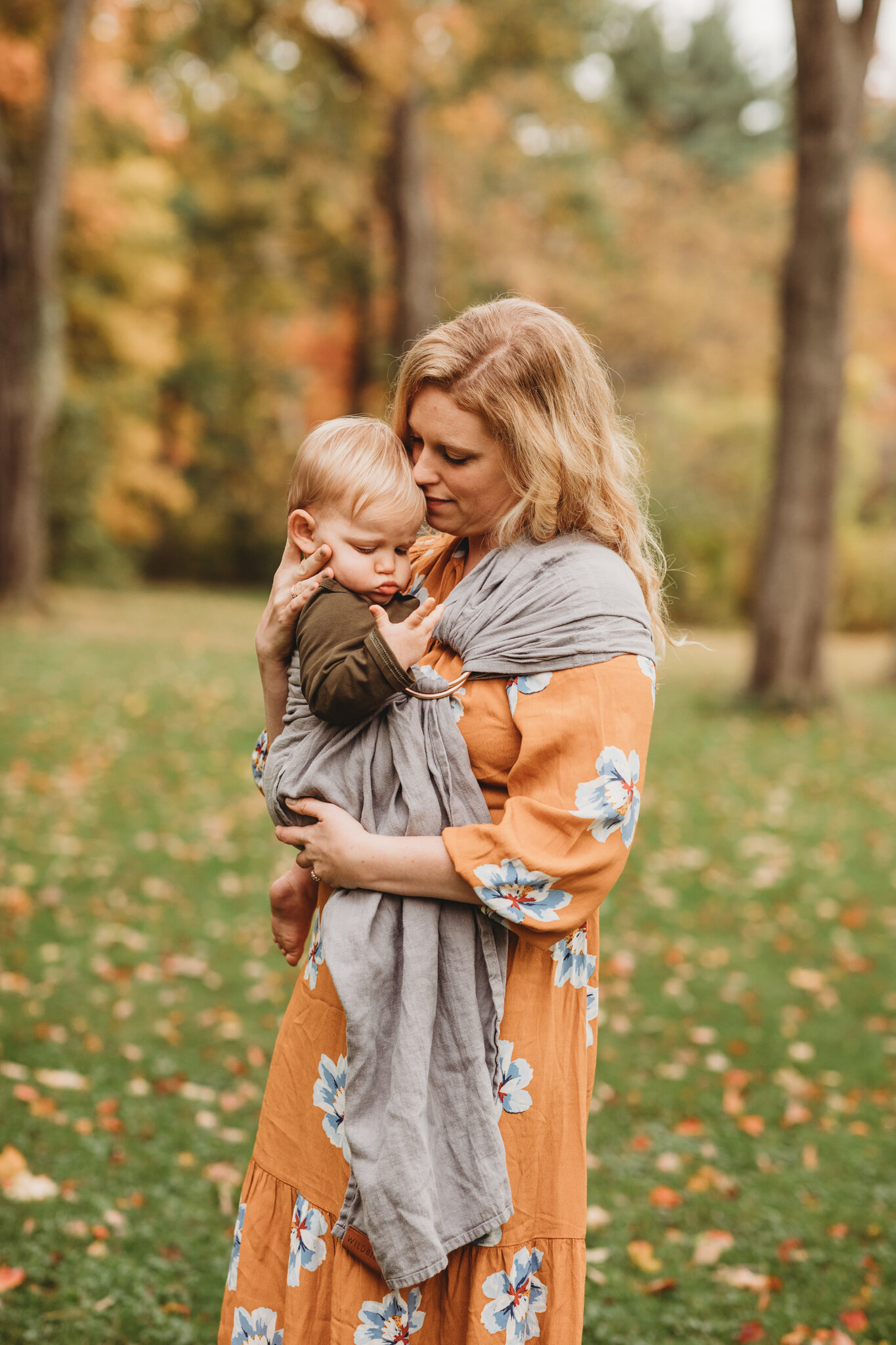 Sudbury family photography during the peak fall foliage season in Massachusetts. Concierge photography services at JLP include location scouting for the best foliage on the date of your session.