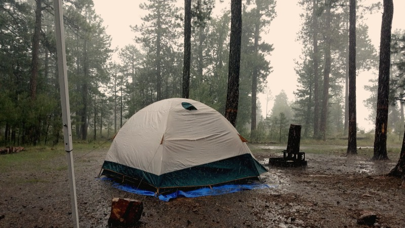 This was our campsite 20 minutes into the 2-hour rainstorm.