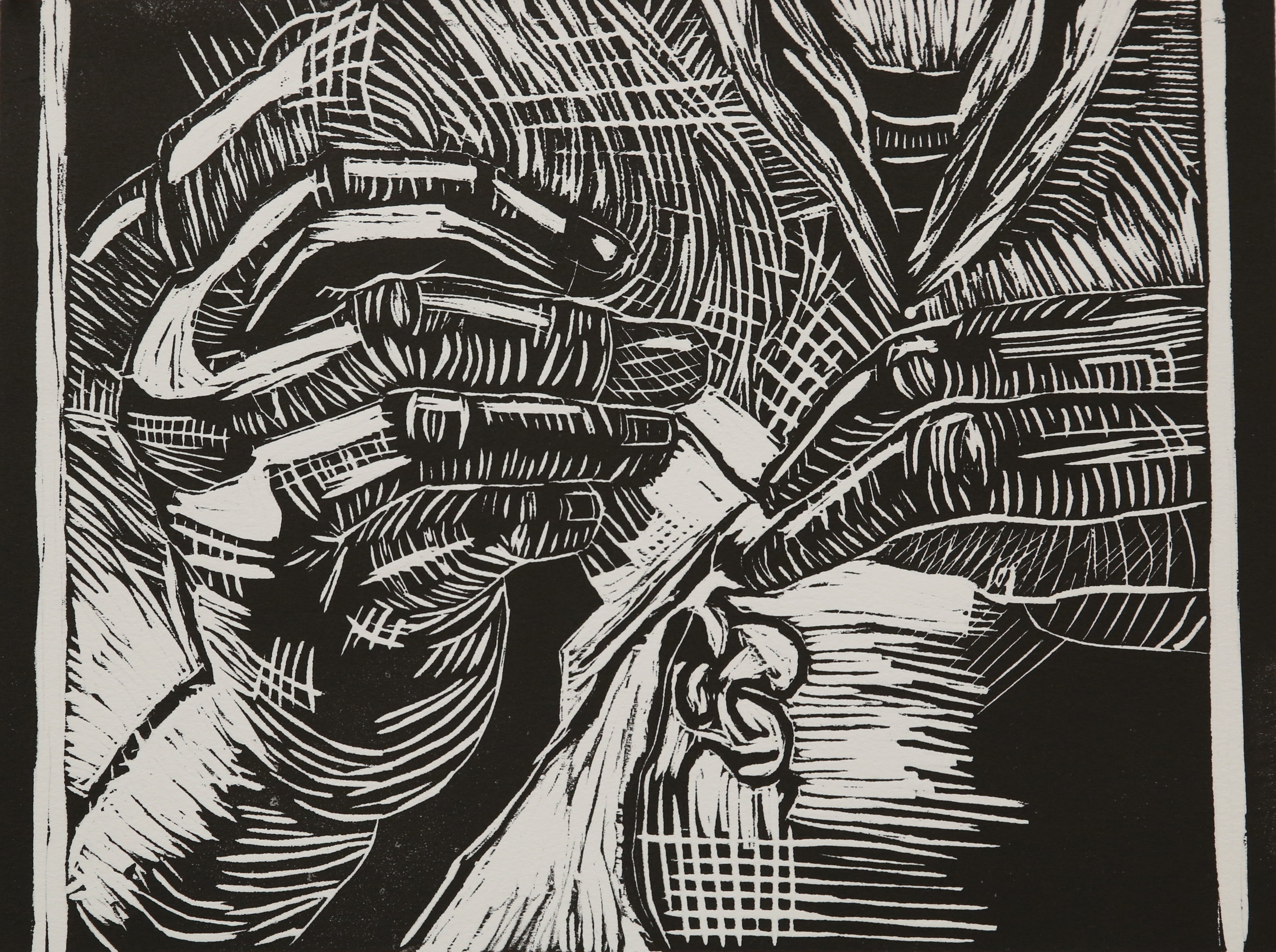 Grandmother   Woodcut Size:15x17 (inches)