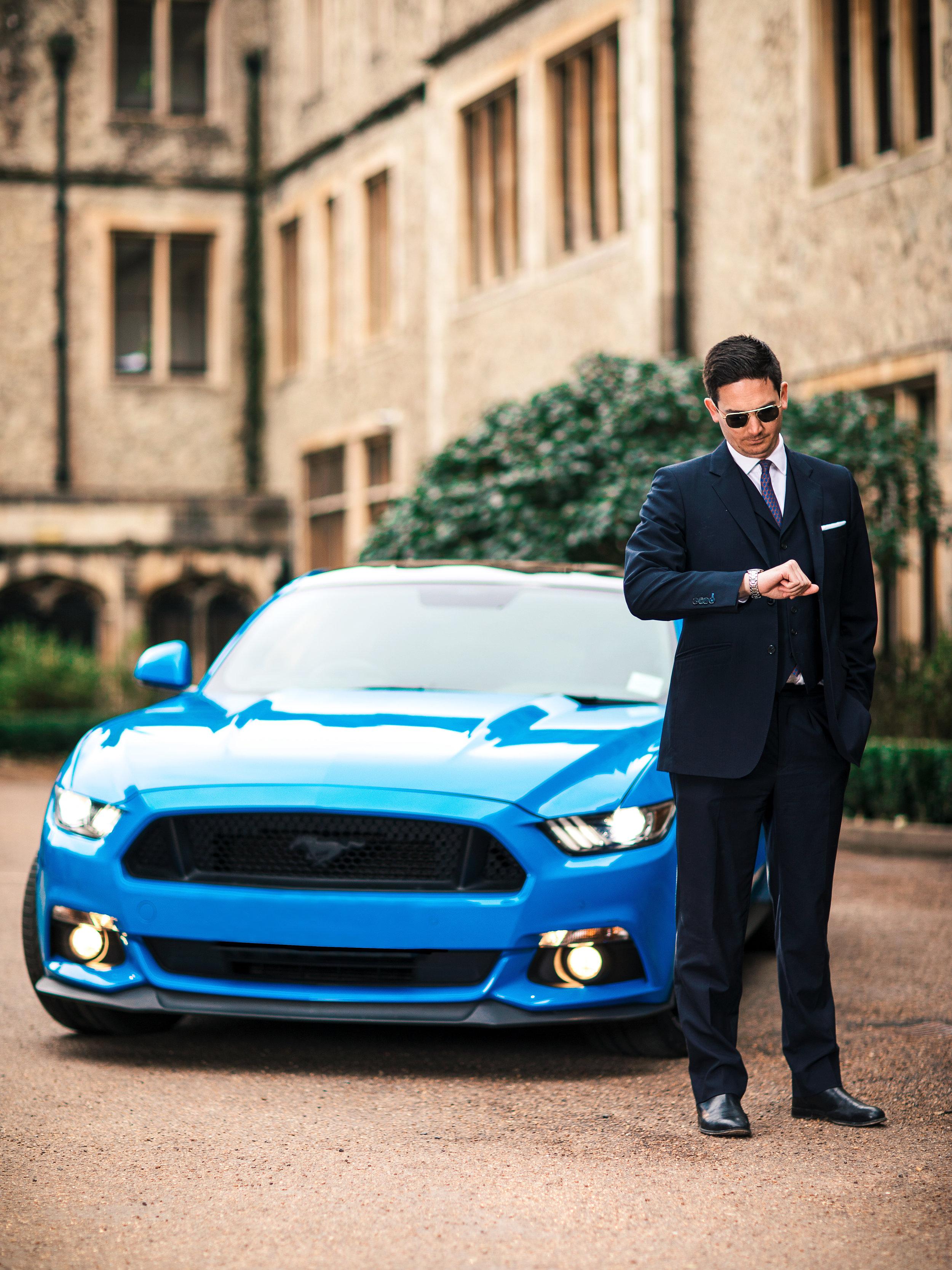 Checking the Time - Modern Male Fashion Portrait