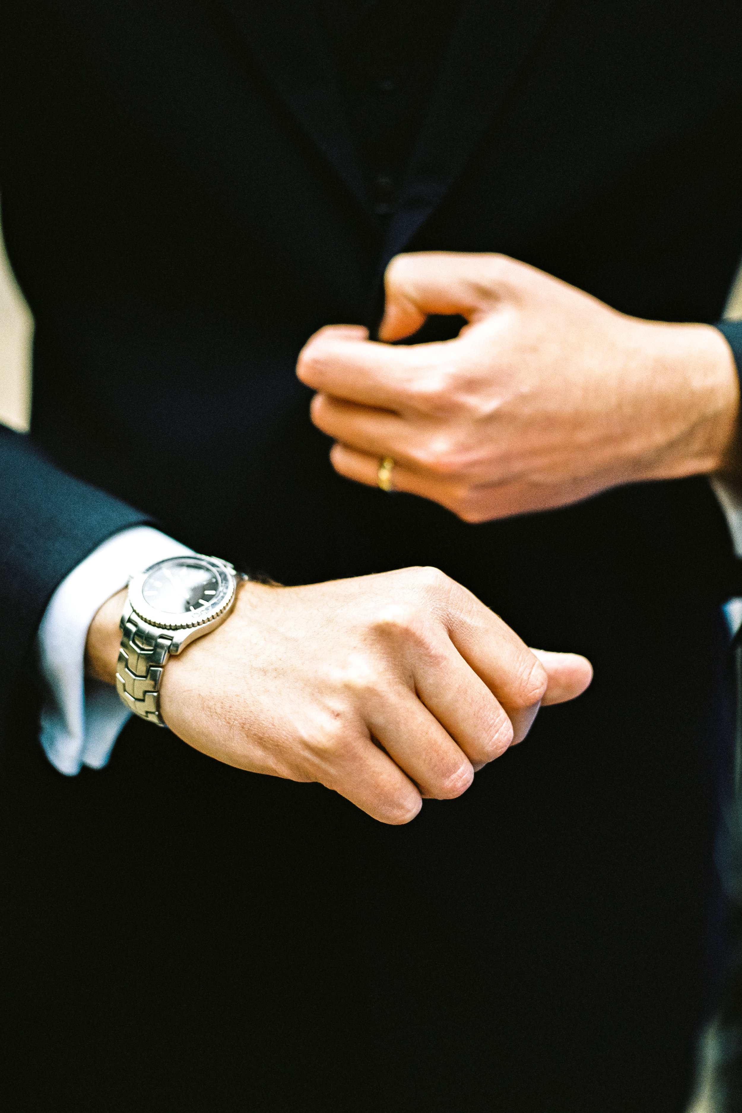 Checking the time - Modern Male Fashion Watch