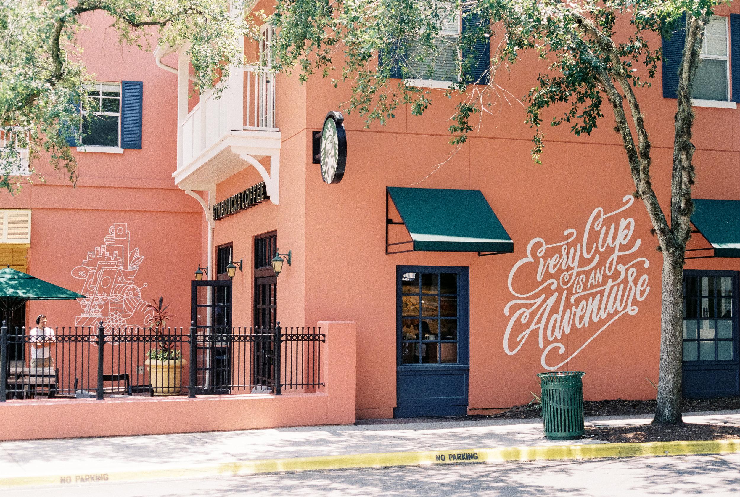 Celebration Starbucks Spencer on Fuji Superia 200 in Florida