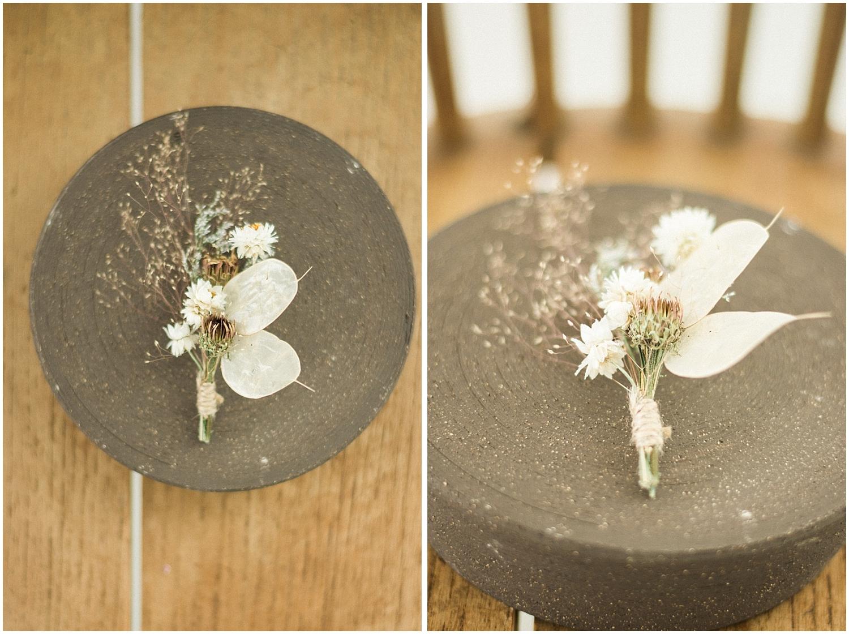 details boutonniere dried flower