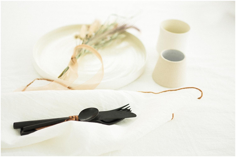 minimalist wedding table setup from Paris