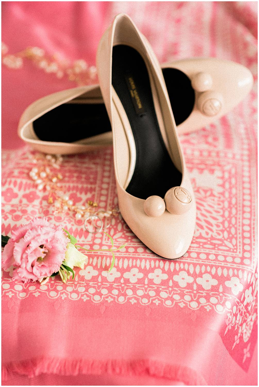 louis vuitton shoes in a wedding in Paris
