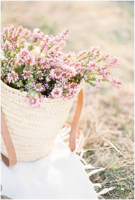 Flower basket from lavender field provence