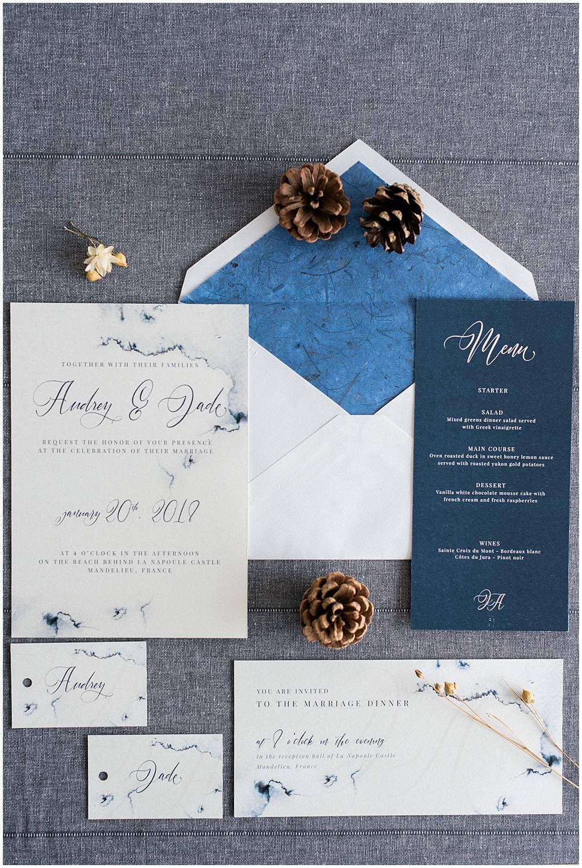 Wedding stationery Atelier Frigga Provence Inspiration
