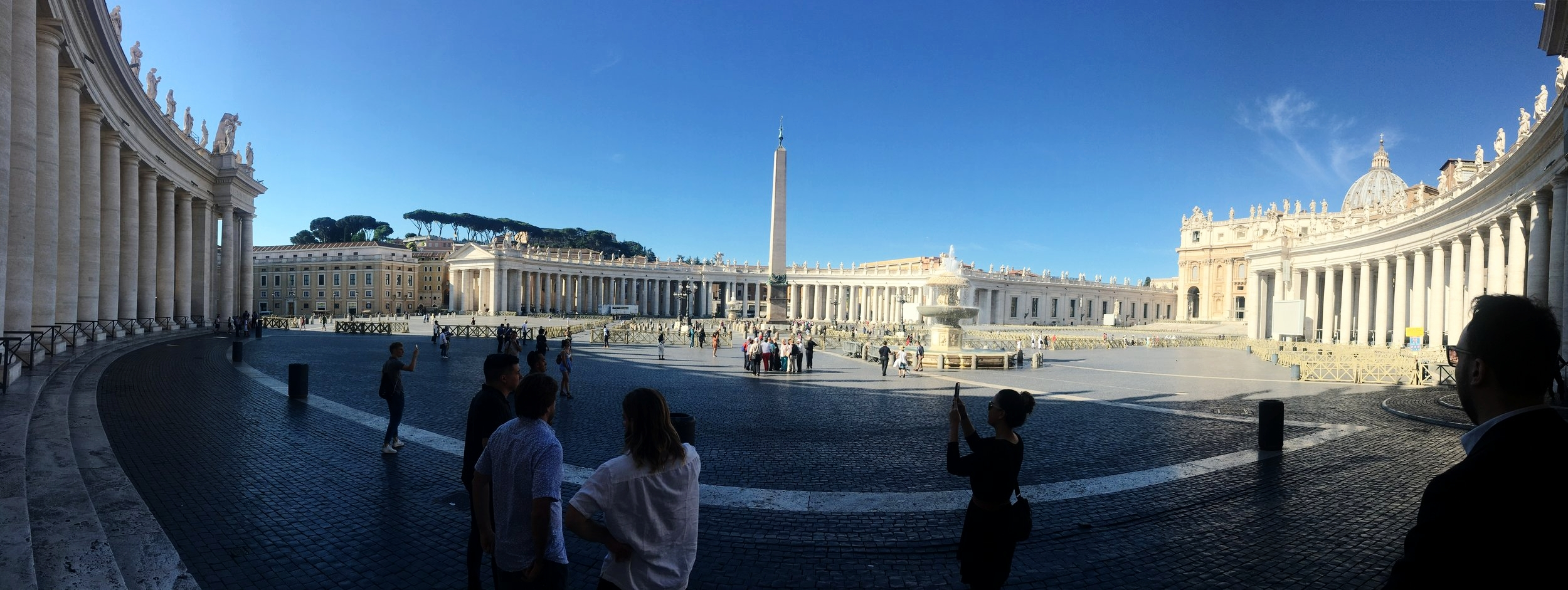 Naomi took a panoramic picture of the St. Peter's square, but no photos really do it justice.