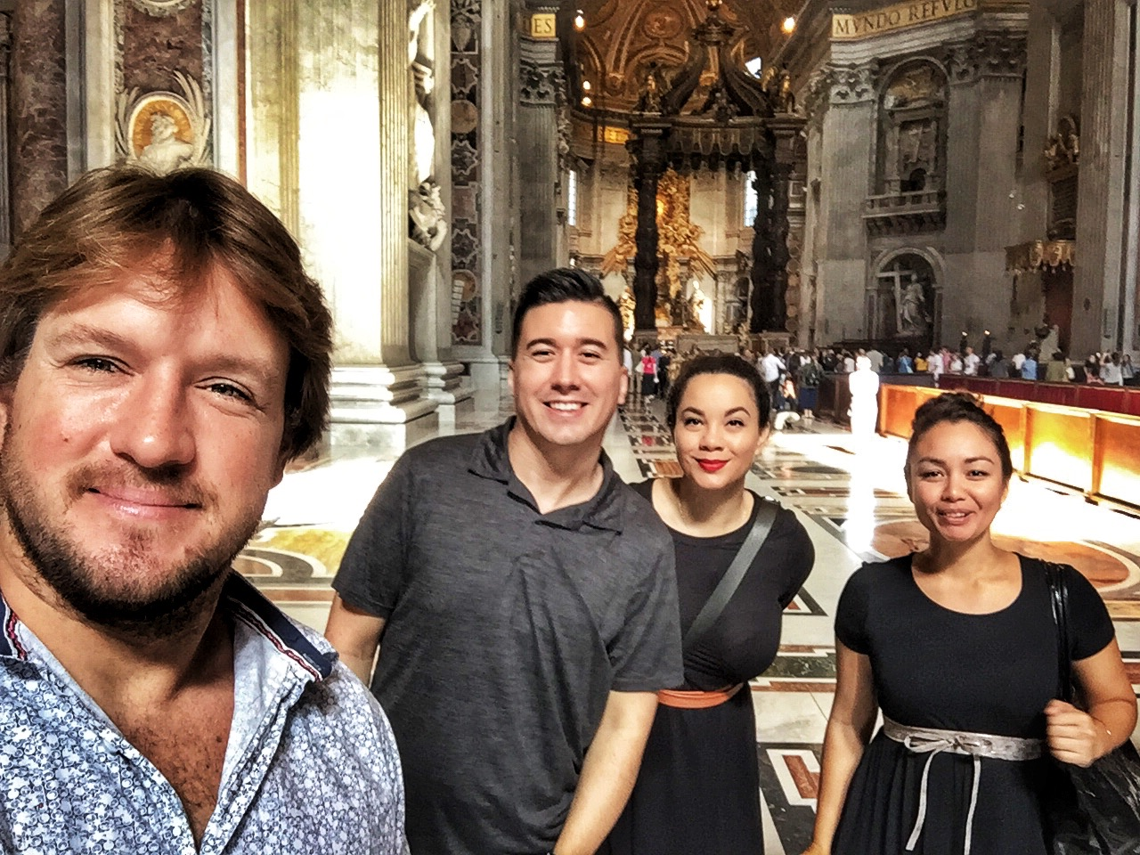 One last selfie before exiting the Basilica!