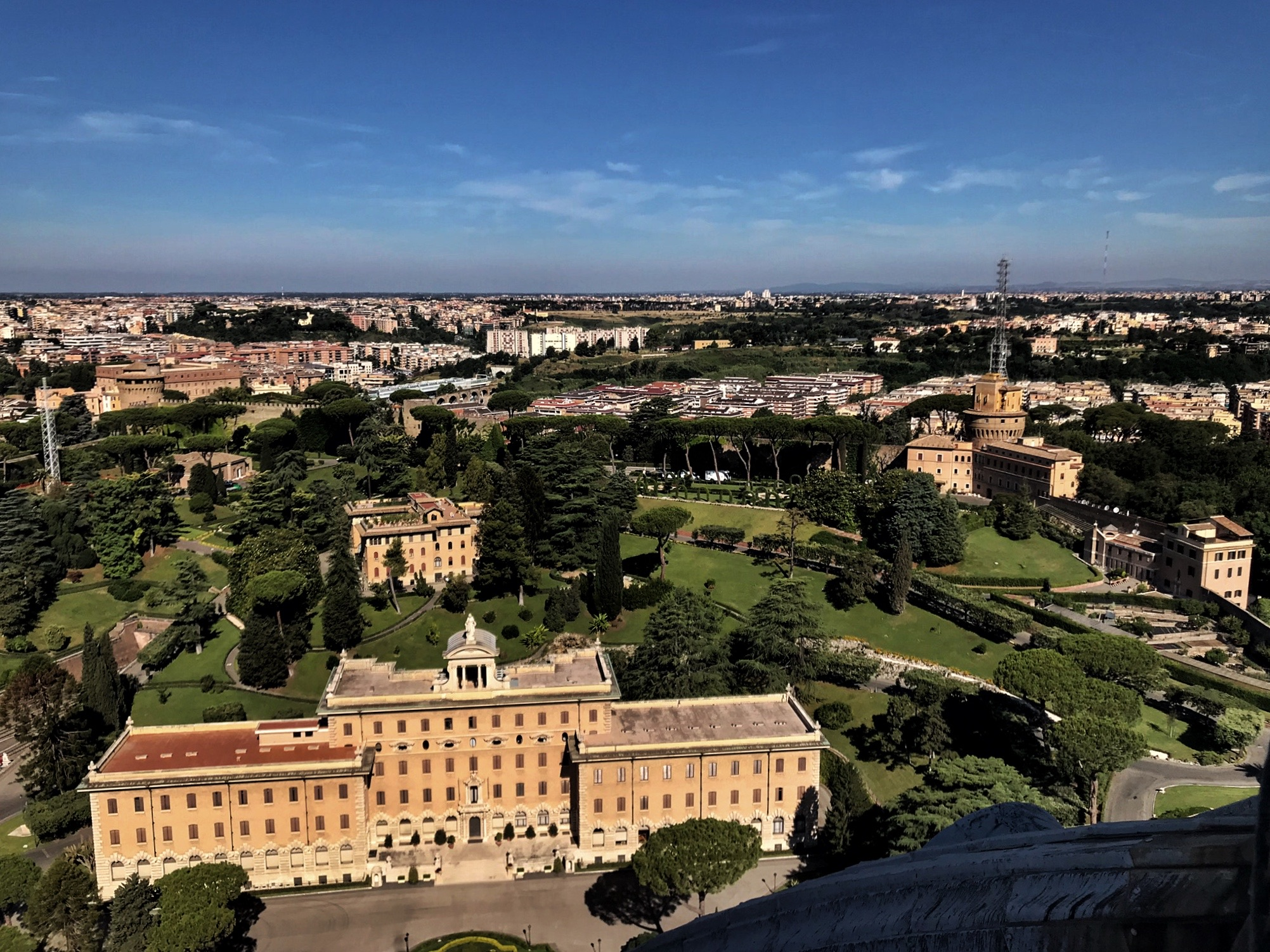 You can see all of Rome!