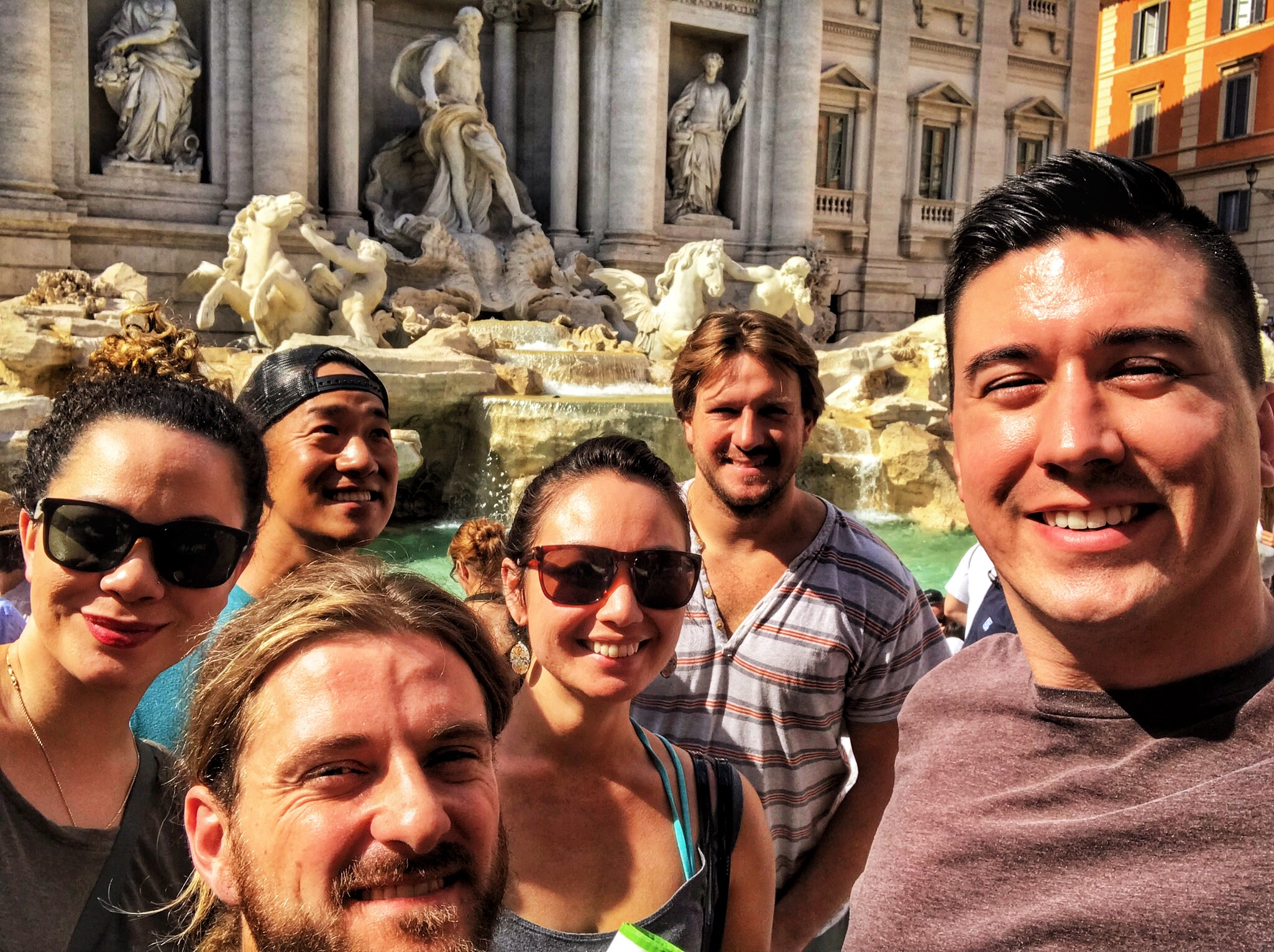 Fun fact brought to you by the Trevi Fountain – Bowe sneezes when there's sun in his eyes.