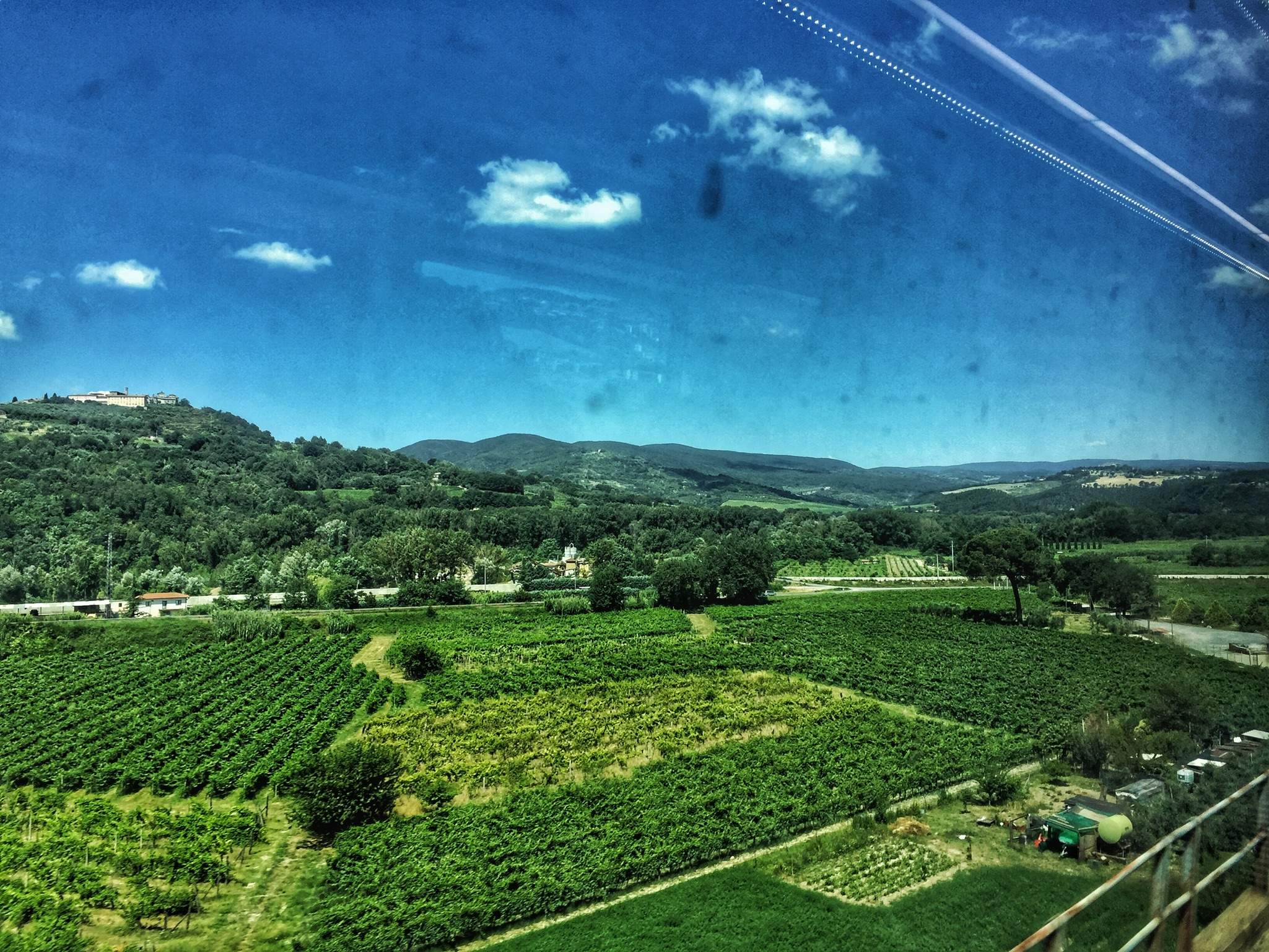 On the train to Florence we got to see the Italian country side for the first time.