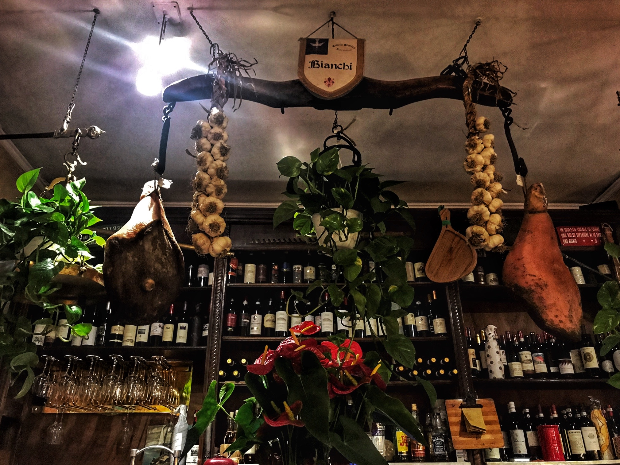 The interior of the All Vecchia Bertola – an authentic Tuscan restaurant in Florence!