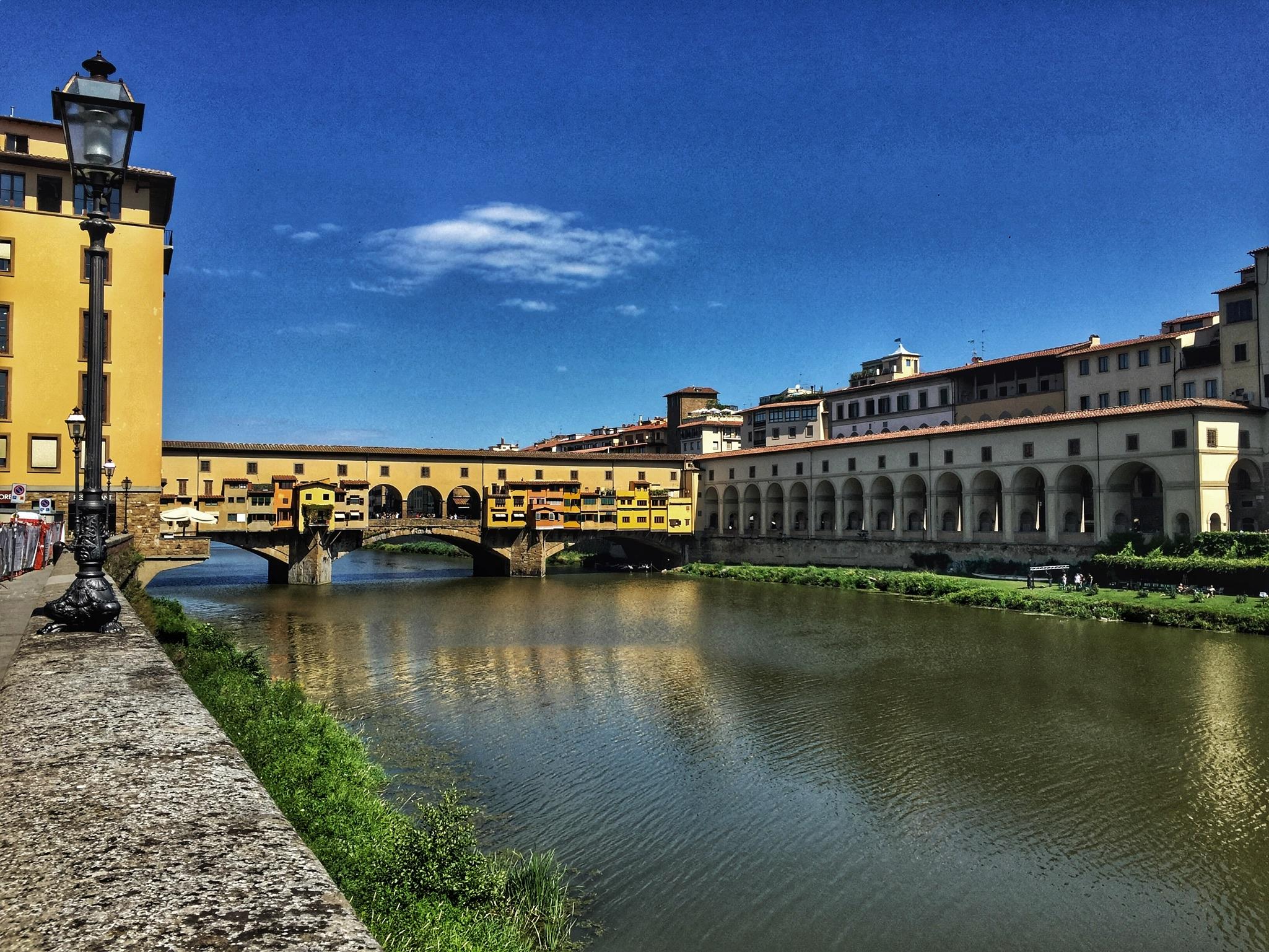 Ponte Vecchio - a peculiar bridge with apartments and shops built into it.