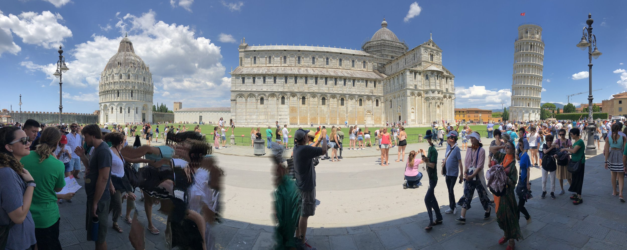 Piazza dei Miracoli - captured in an almost-miraculous panoramic shot.