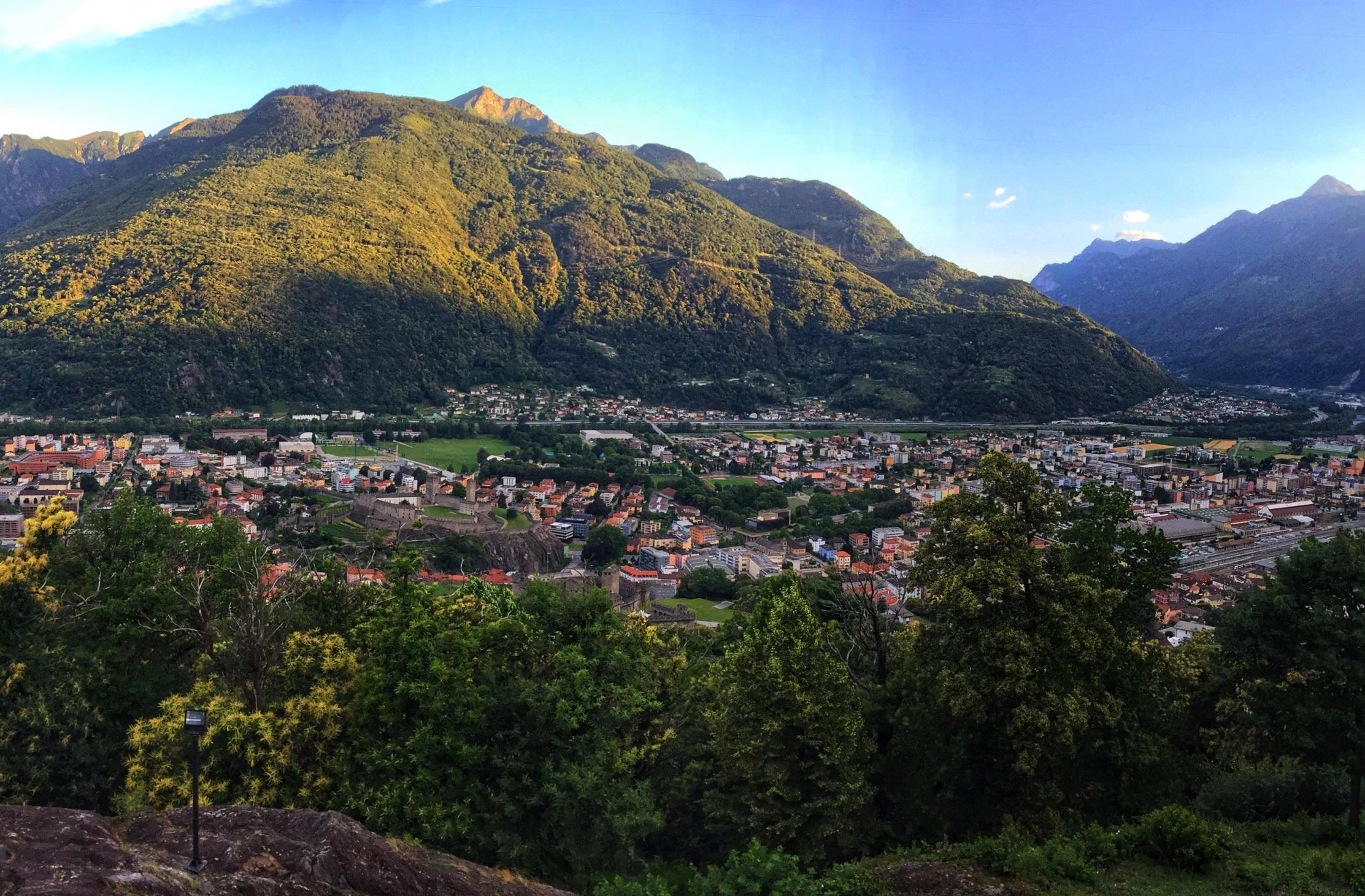 Bellinzona in the morning light.