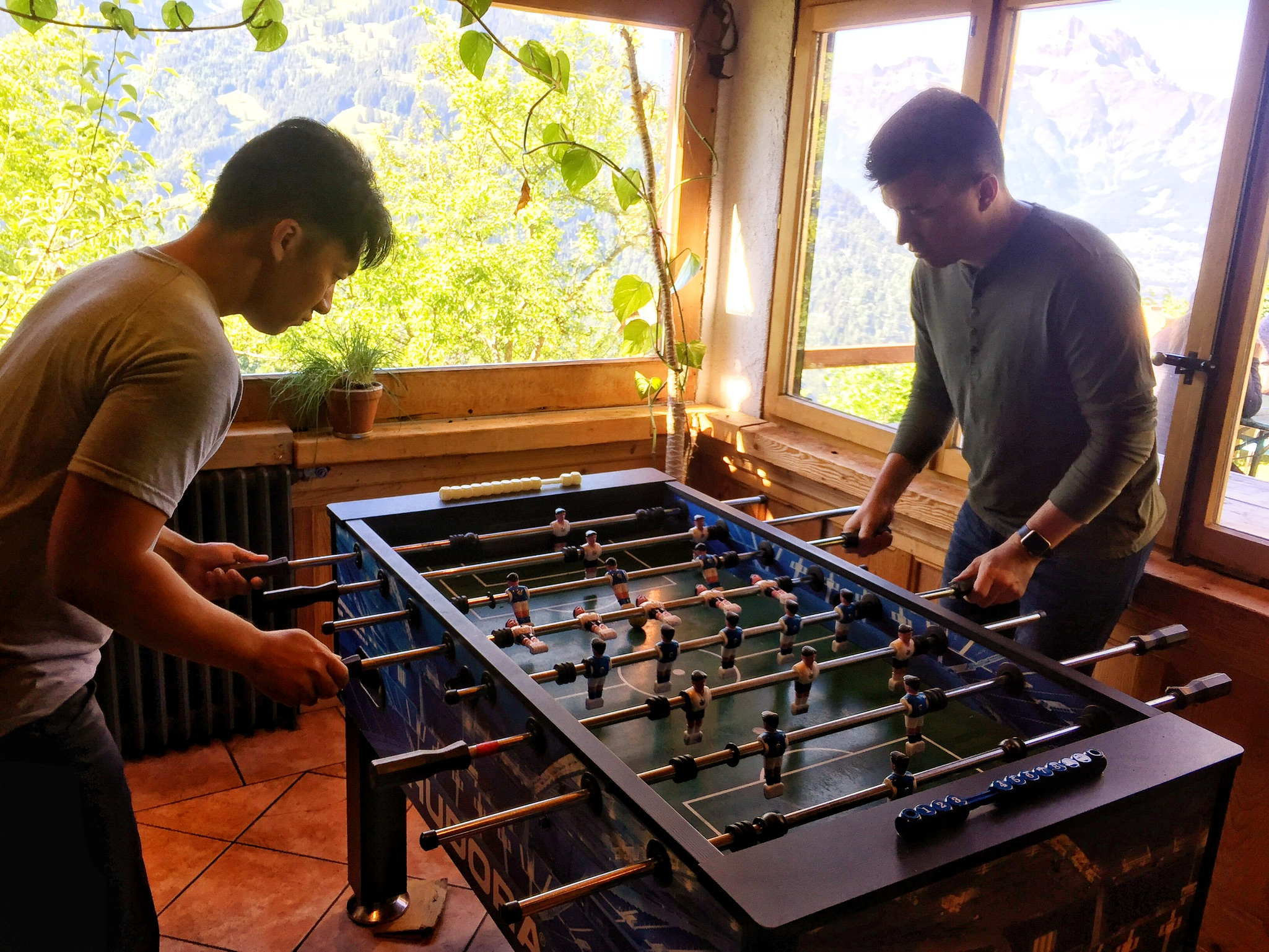 Turns out both of these guys' degrees are in foosball, not music.