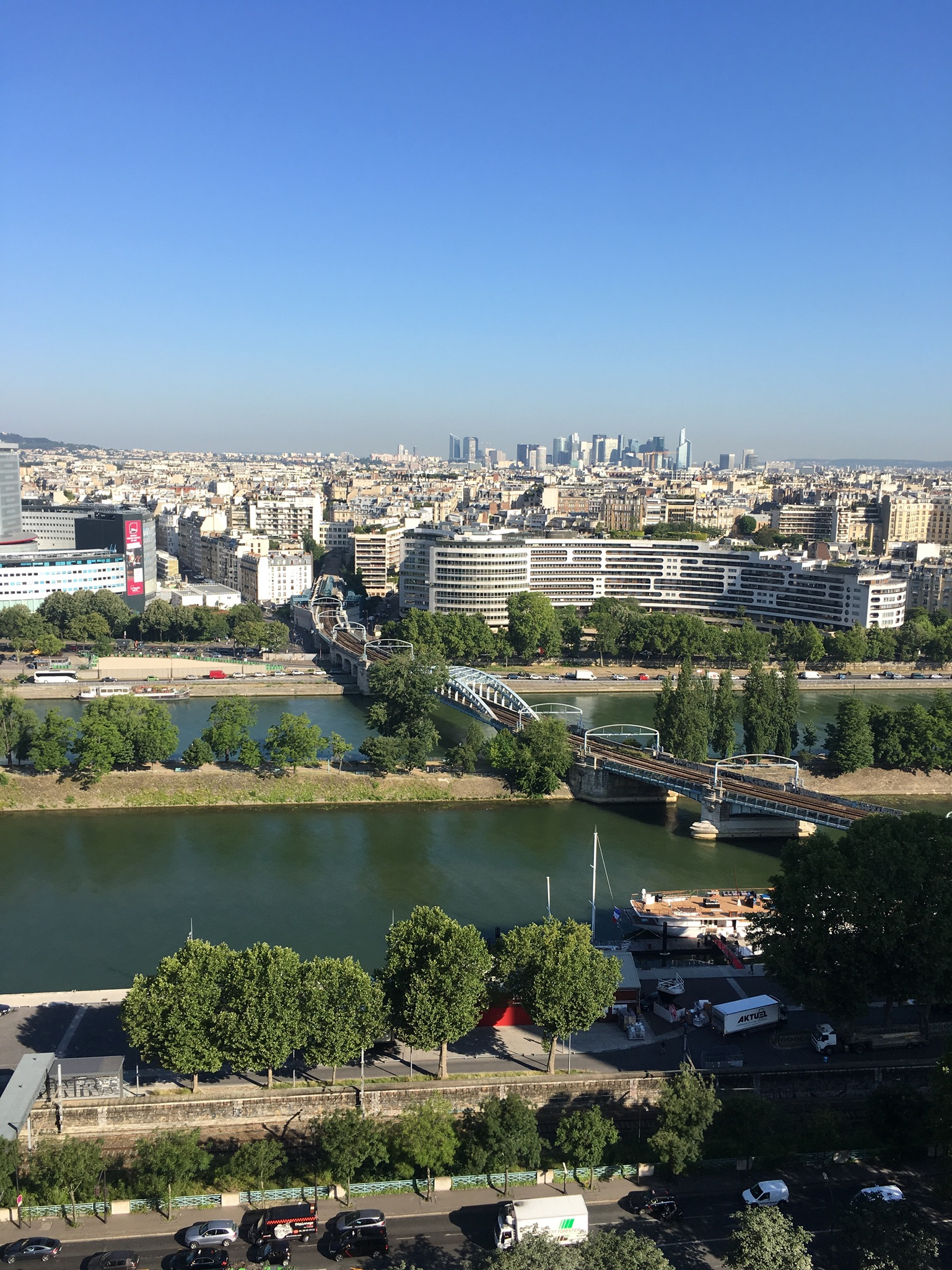The view from our apartment in Paris was pas mal du tout!