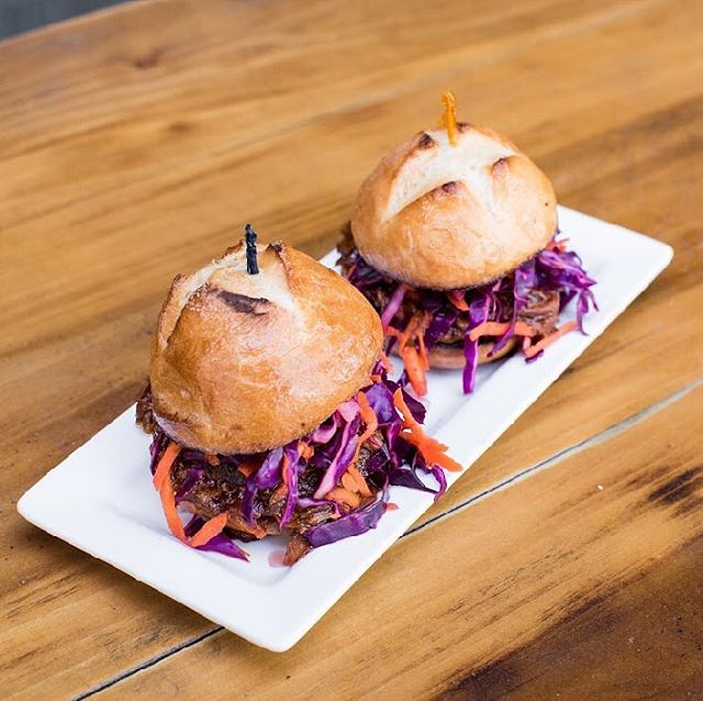 Slider Saturday! Stop by today for some tasty Guinness braised pork sliders with red cabbage slaw! . . . . . . . . #stoutbrothers #stouts #stout #santarosa #sr #sonoma #sonomacounty #downtown #beer #craftbeer #cocktails #happyhour #lunch #dinner #wheretoeat #friends #goodvibes #drink #drinks #foodie #irishpub #foodporn #foodstagram #wine #yum #nom #bar #pub #restaurant