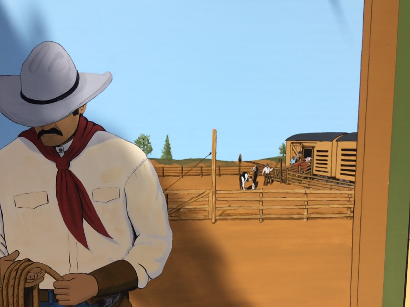 western mural and westernfacade_california_rodeo_salinas5.JPG