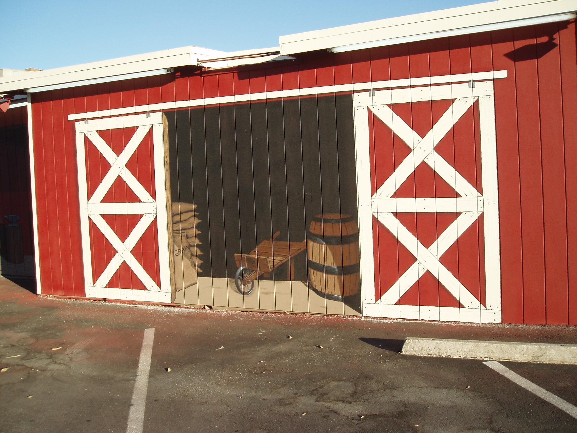 Western Mural Wagon Wheel Restaurant exterior Santee California 13.JPG