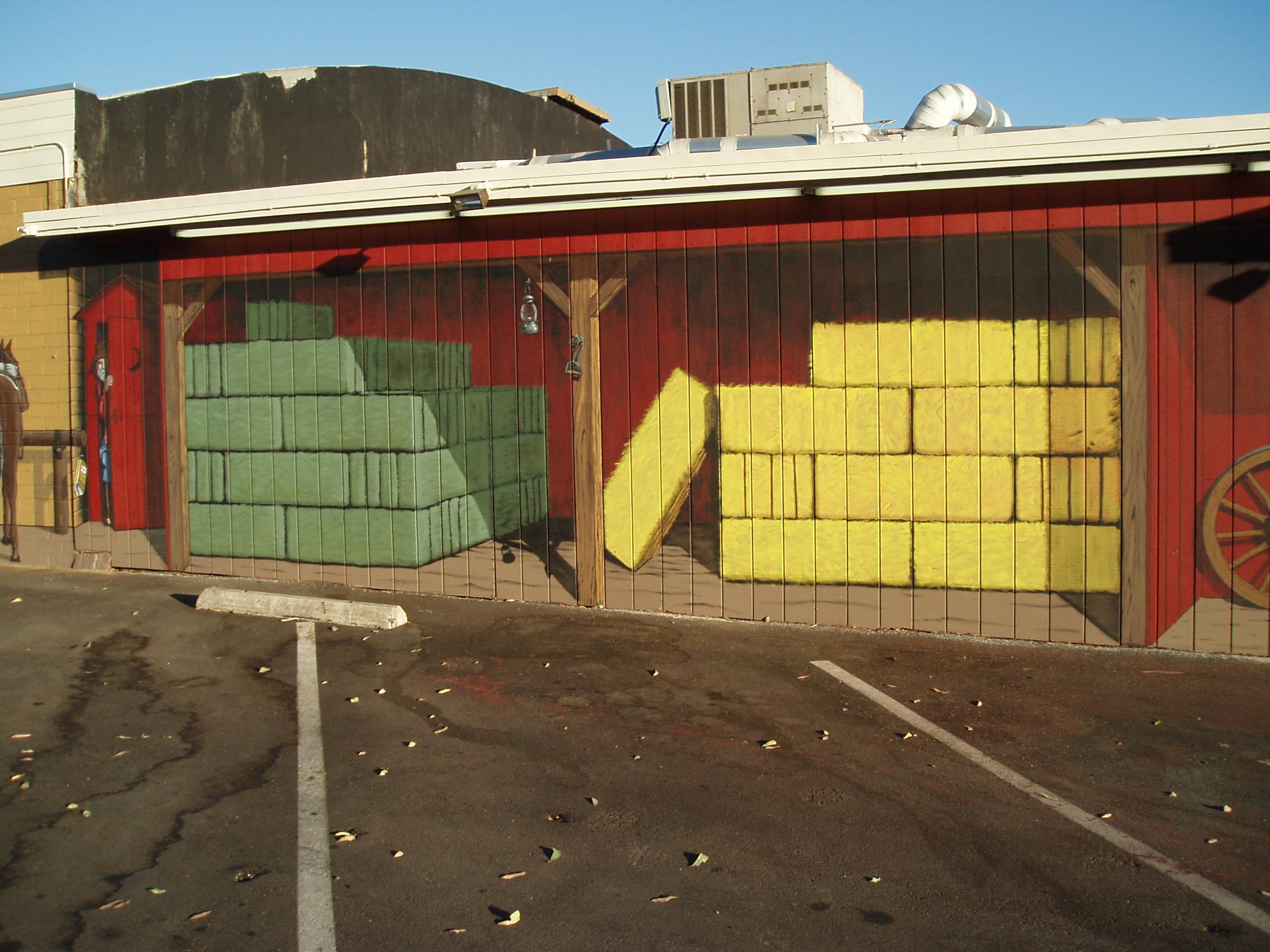 Western Mural Wagon Wheel Restaurant exterior Santee California 15.jpg