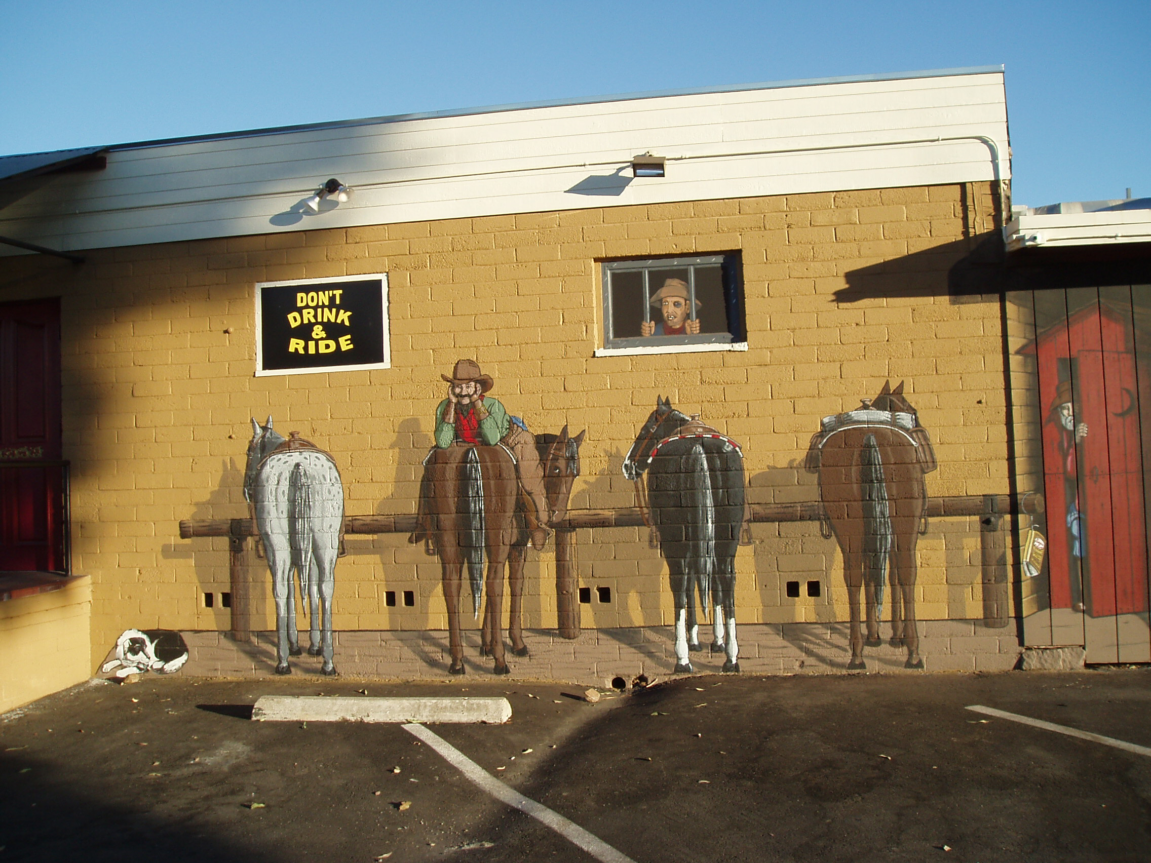 Western Mural Wagon Wheel Restaurant exterior Santee California 19.jpg
