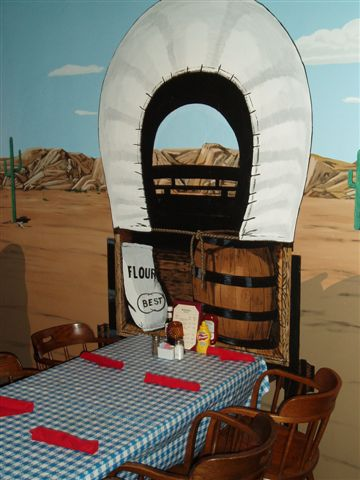 Western Woodwork & Mural Wagon Wheel Restaurant Interior Santee California 1.jpg