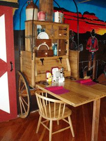 Western Woodwork & Mural Wagon Wheel Restaurant Interior Santee California 4.jpg