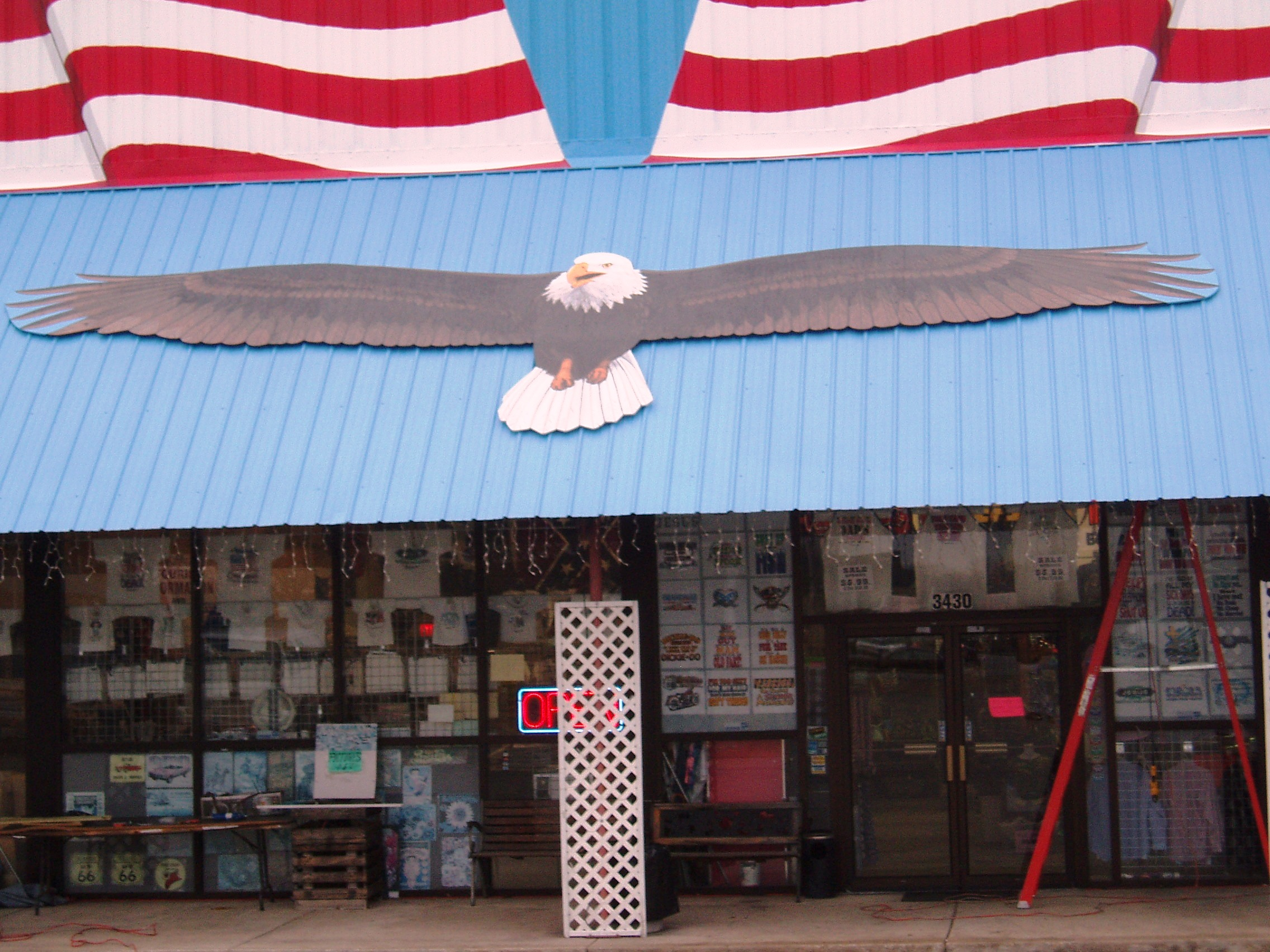 American flag eagle painted mural Branson Mo 1.JPG
