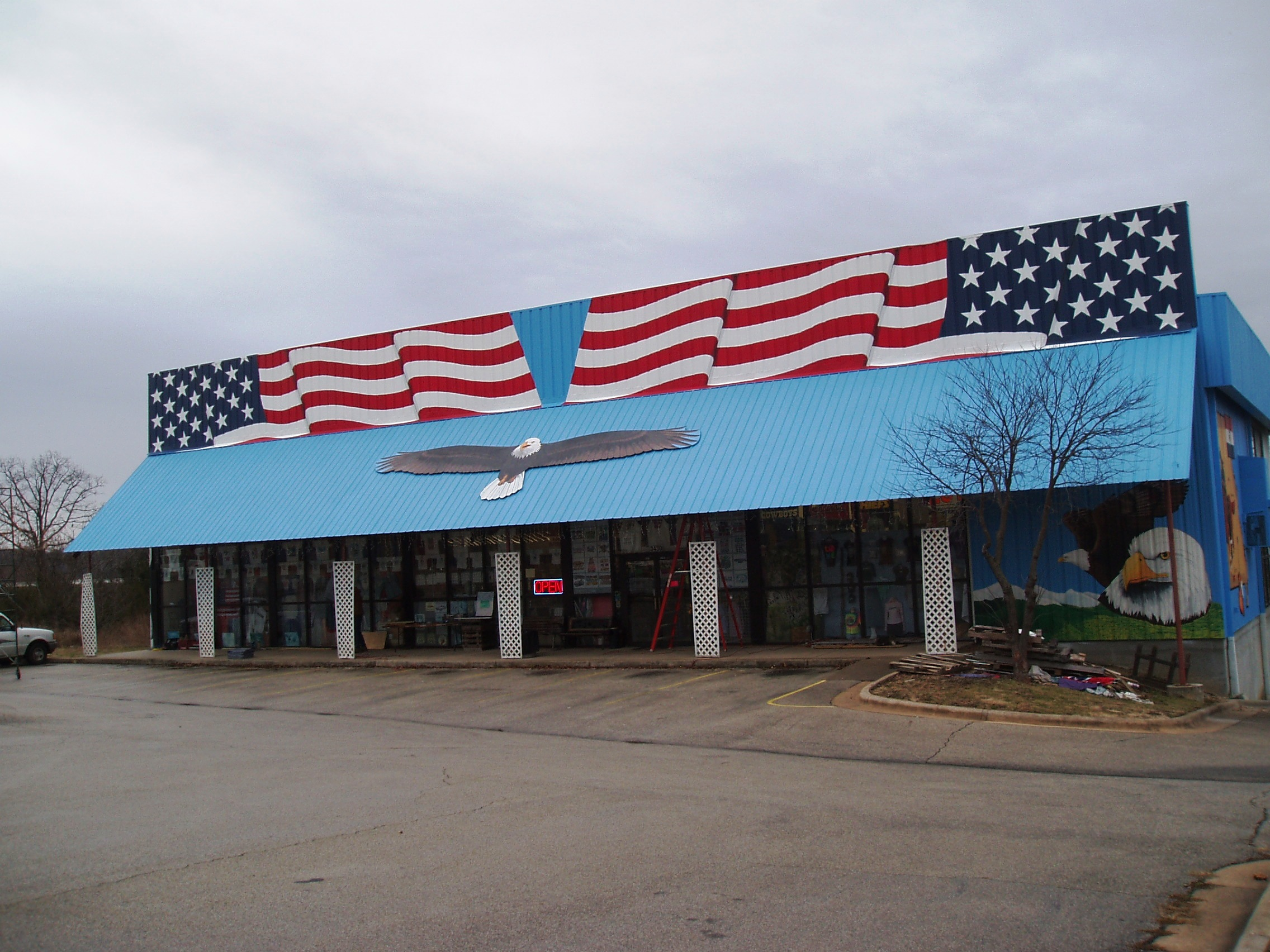American flag eagle painted mural Branson Mo 2.JPG