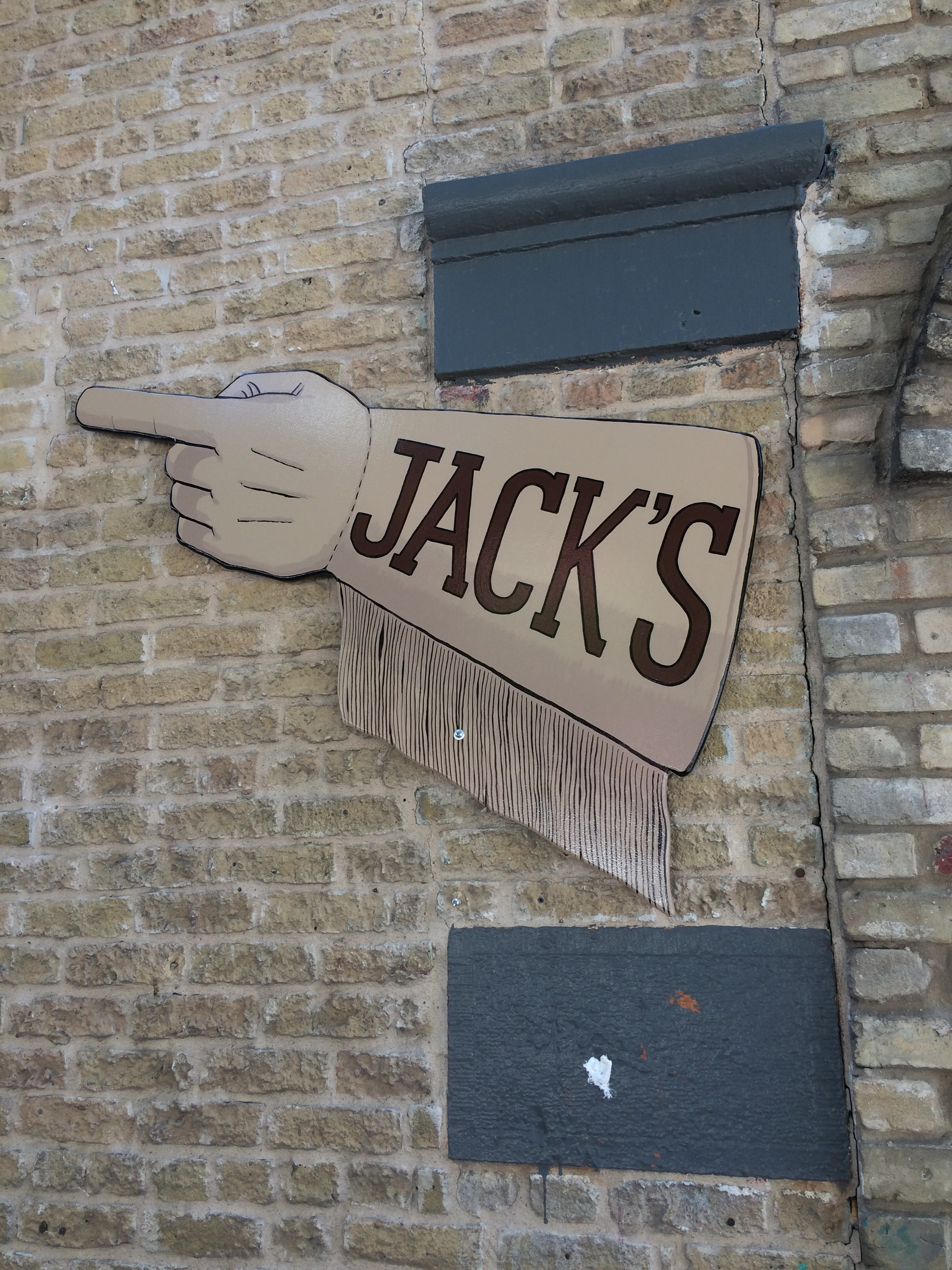 Hand Painted Western Gauntlet Sign - Jack's - Austin, TX