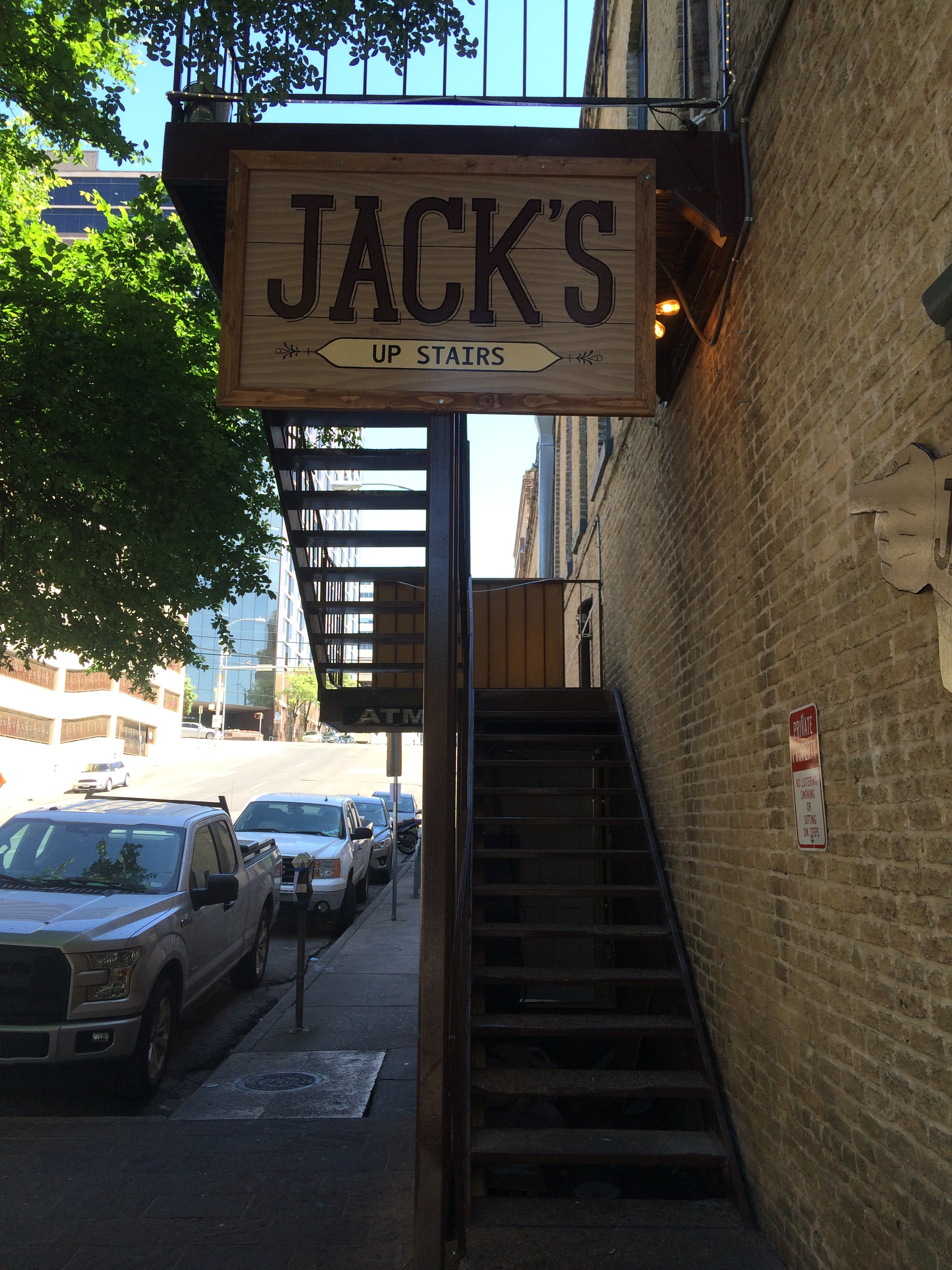 Hand painted western sign - Jack's - Austin, TX