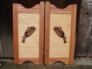 Western saloon doors with spurs