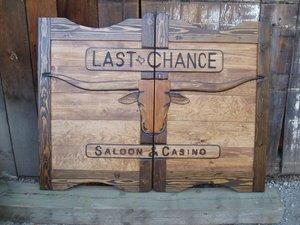 Western Saloon doors with Texas Longhorn