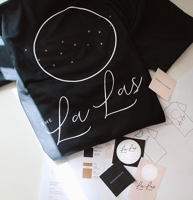 ✱ Happy Friday friends!  Can you believe another week is almost done?! Finishing the week on a high as last night we got to see our @thelalaschoir brand come to life on our very first t shirts!  So proud that I got to design these for the all female choir that I'm part of. Each gold star represents a member of our choir, and I wanted this element of our branding to be adaptable, so that it could easily change to fit to wherever it's applied.  Having more than one aspect to your branding means you can tell your story in a myriad of ways, capturing your audiences hearts as you tell it ✨ #morethanjustalogo #considereddesign