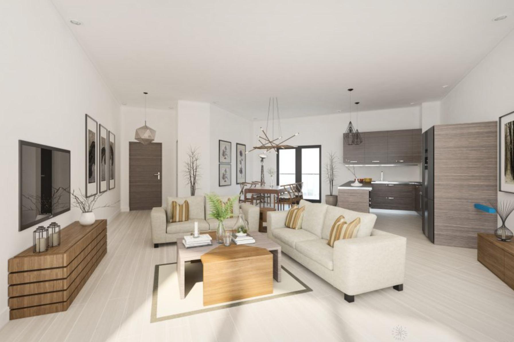 2BR/2BTH Living Room Area