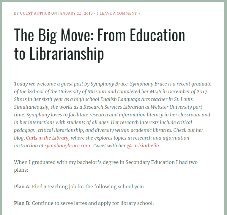 Screenshot of blog post introduction.