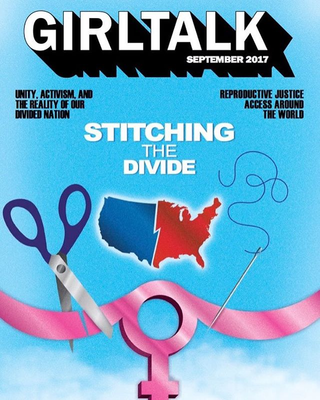 "Our third issue is out- ""Stitching the Divide"" addressed a wide variety of topics, from reproductive justice to political divisions in America, and those who support and don't support feminism. Link in bio-enjoy!⭐️"