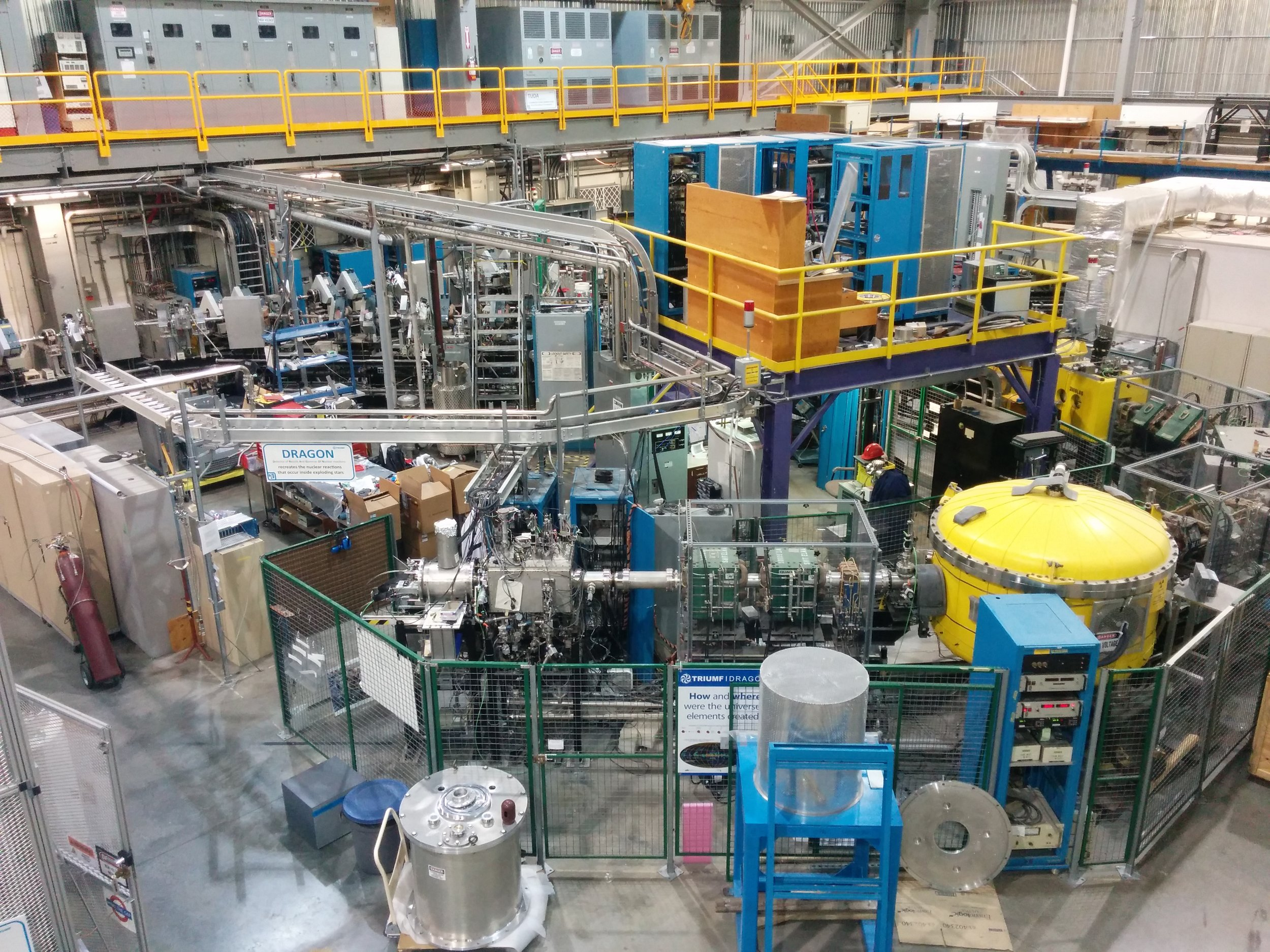 The Dragon facility - is part of the TRIUMF, Canada's national laboratory for particle and nuclear physics and accelerator-based science.Dragon is the facility where Thanassis conducts his experiments.