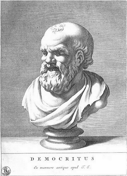 Democritus - c. 460 – c. 370 BC, ancient Greek philosopher of the pre-Socratic era. Together with his mentor Leucippus the atomic theory of the universe.image: Wikipedia, public domain